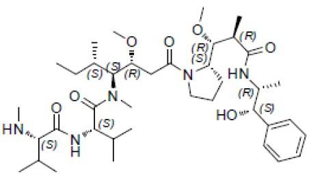 Monomethyl auristatin E (vedotin)